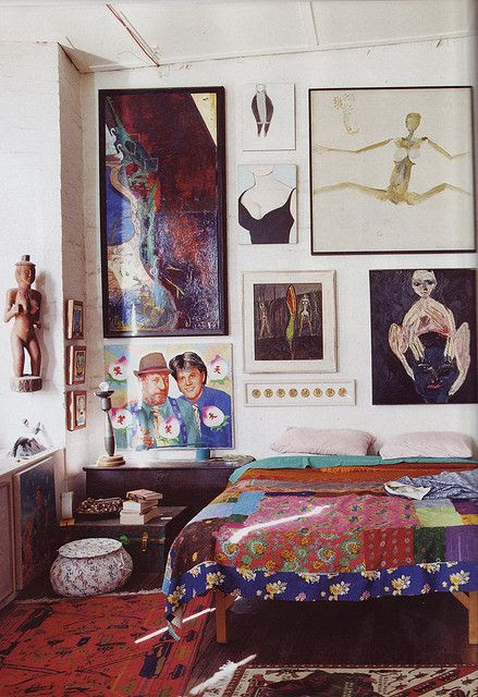 (BrandonRugs.com) Handmade rugs and art: non-judgmental cohabitation permitted for centuries.