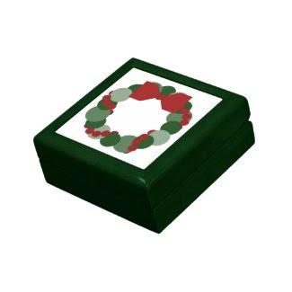 Geometric Christmas Wreath Jewelry Box