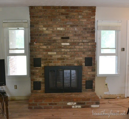 """fireplace makeover """"before"""""""