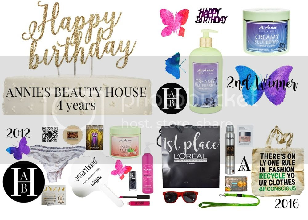 1st and 2nd price - blog birthday giveaway