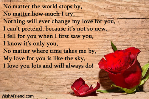 When I First Saw You I Love You Poem