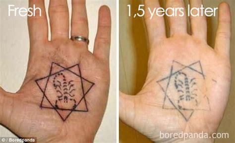 boredpanda users show tattoos faded shocking