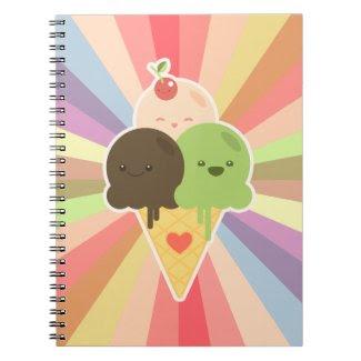 Kawaii Ice Cream Cartoon notebook notebook