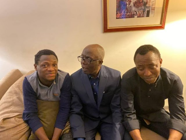 Sowore Pictured With Falana After Release From Prison