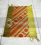 Placemat Mendong Batik Tepi Emas