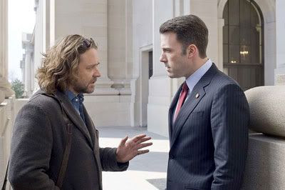 Crowe and Ben Affleck in STATE OF PLAY.