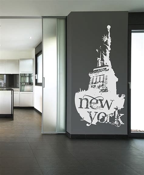 york statue  liberty wall stickers home