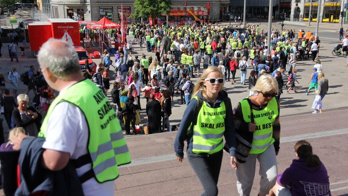 Sykehusdemonstrasjon i Oslo - Foto: Lars Tore Endresen / NRK