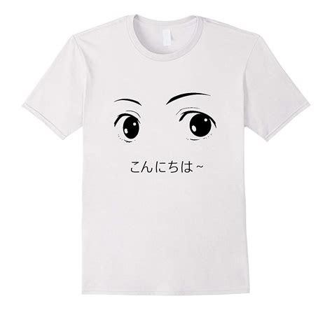 anime eyes shirt japanese cartoon aesthetic  shirt