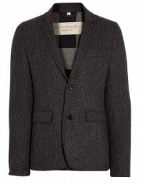 Burberry Brit Grey Tweed Blazer
