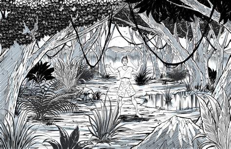 draw  jungle landscape  robertmarzullo  deviantart