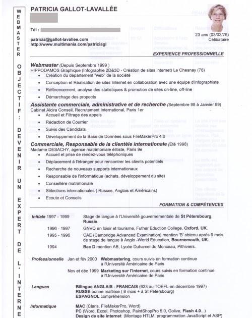 resume format  mod u00e8le curriculum vitae avocat
