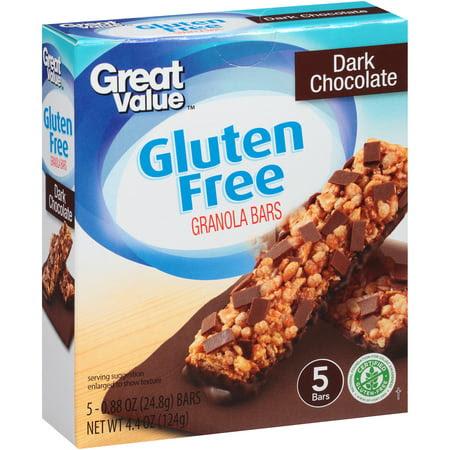 Great Value Gluten Free Dark Chocolate Granola Bars, 0.88 ...
