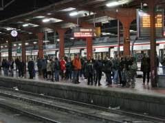 Andén en la estación de Chamartín, Madrid. (JORGE PARÍS)