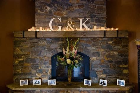 Wedding Fire Mantle Decor. Our initials   My wedding