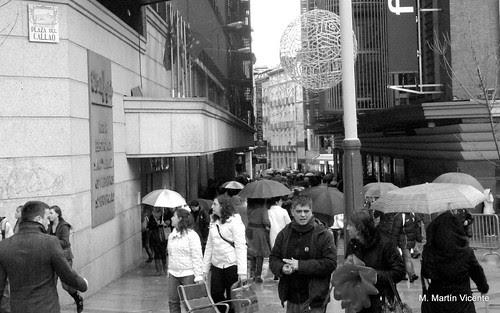 Madrid, día de paraguas y charcos