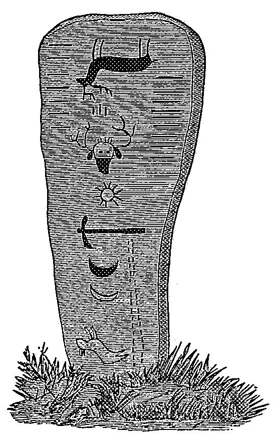 """Ojibwa gravestone, including """"dead"""""""