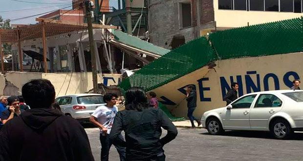 En CDMX, cae escuela por sismo; 12 niños muertos y 14 rescatados