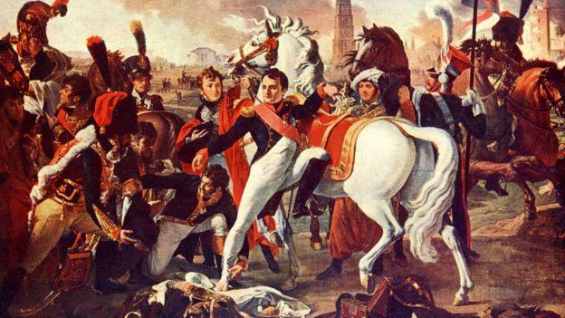 Napoleón Bonaparte en Ratisbonne, por C. Gautherot