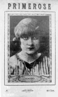 "Revista «Primerose», donde publica ""Sonetos de la muerte"", 1915."