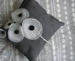 Modern Poppy Ring Pillow