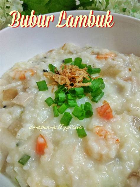 dapur aida bubur lambuk simple