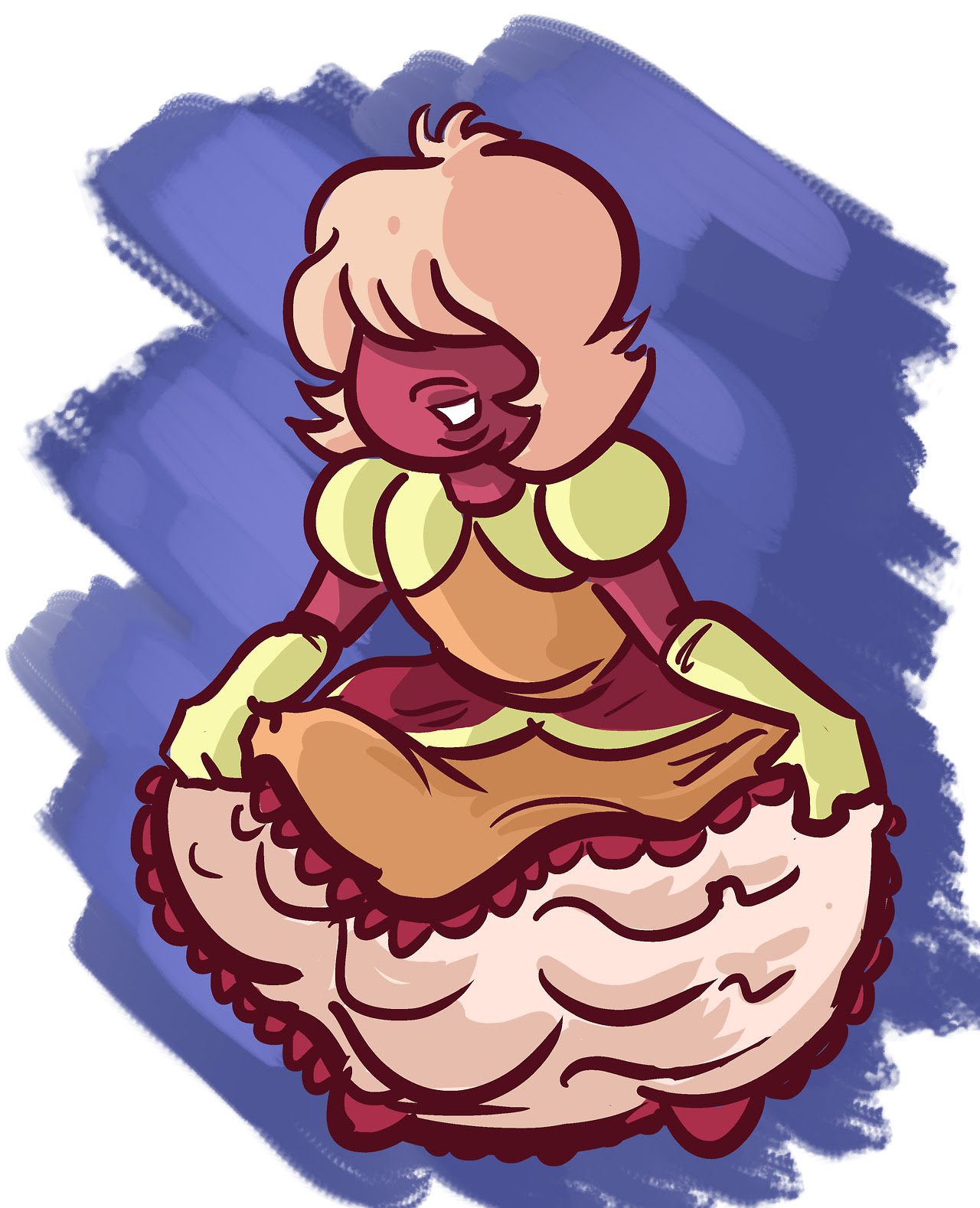 padparadscha curtsying- a few seconds late, probably…