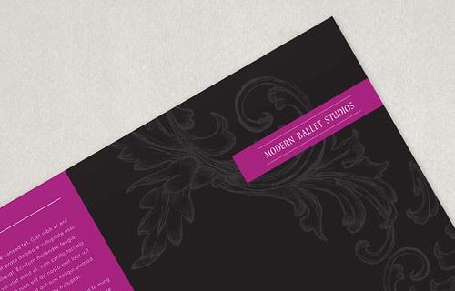 Elegant Ballet Brochure Template 2 -Elegant, Ballet, Brochure, Template, Graphic Design Template, Customize Print, Design Template, Brochure