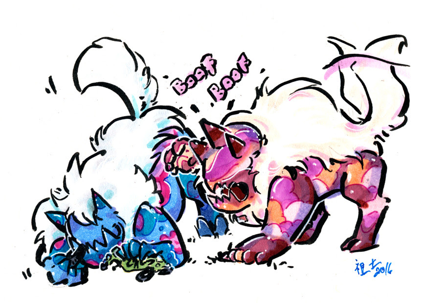 some brushpens from today http://patreon.com/notfun