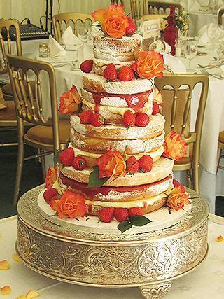 Naked Wedding Cakes full price list, 3 tier from £225 (6,8