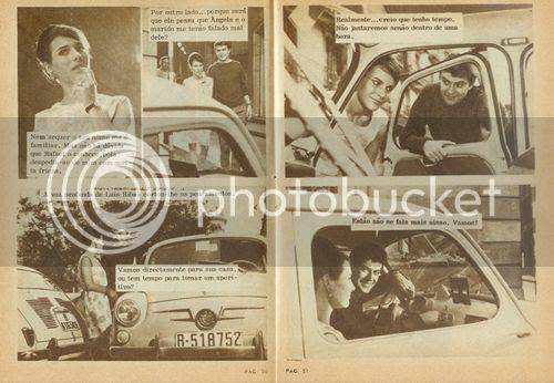 Um exemplo de uma fotonovela publicada nas páginas da Crónica Feminina