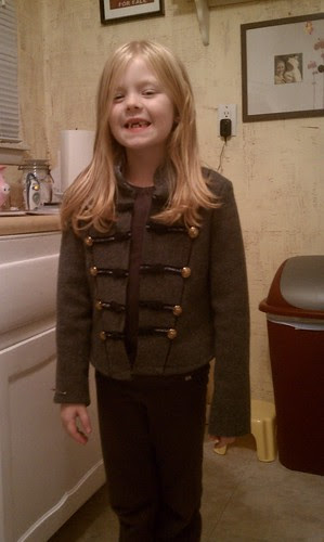 Kate in her Sgt Pepper jacket