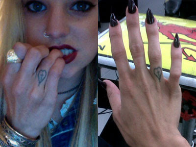 Juliet Simms Cross Heart Knuckle Tattoo Steal Her Style