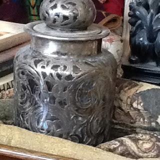 Silver jar
