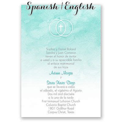 bilingual wedding invitations images  pinterest
