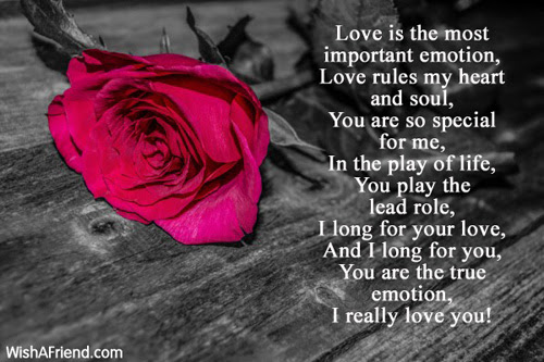 Love Is The Most Important Emotion Romantic Message