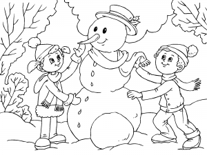 Dibujos De Invierno Para Colorear Paracolorearnet