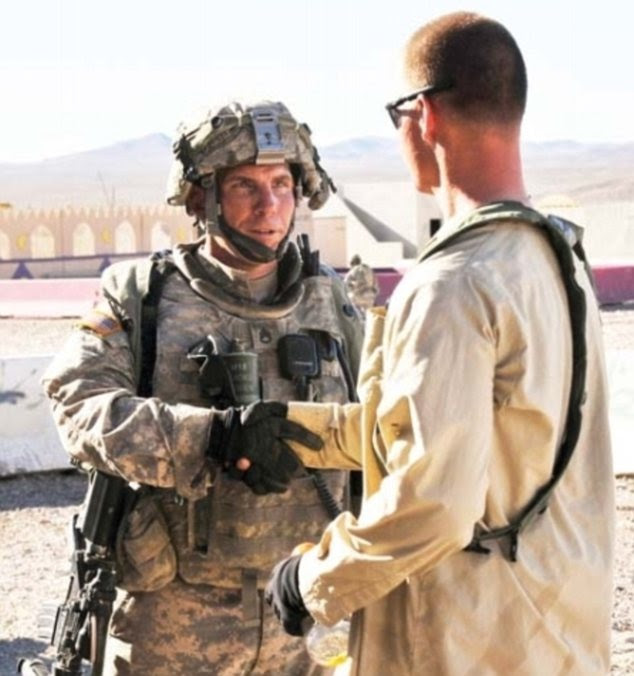 Soldier: Staff Sergeant Robert Bales, left, is the soldier alleged to have killed 16 Afghan civilians as they slept