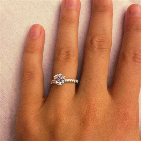 1.5 Carat Diamond Engagement Ring Thin Band 4   Future