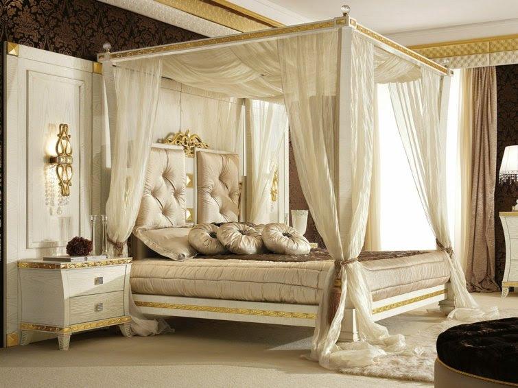 decoration chambre avec lit baldaquin 2
