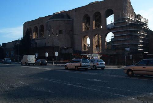 Basilica of Maxentius, from Via dei Fori Imperiali