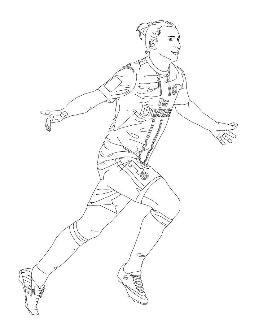 Dibujos De Jugadores De Futbol Imagenes Para Colorear Para