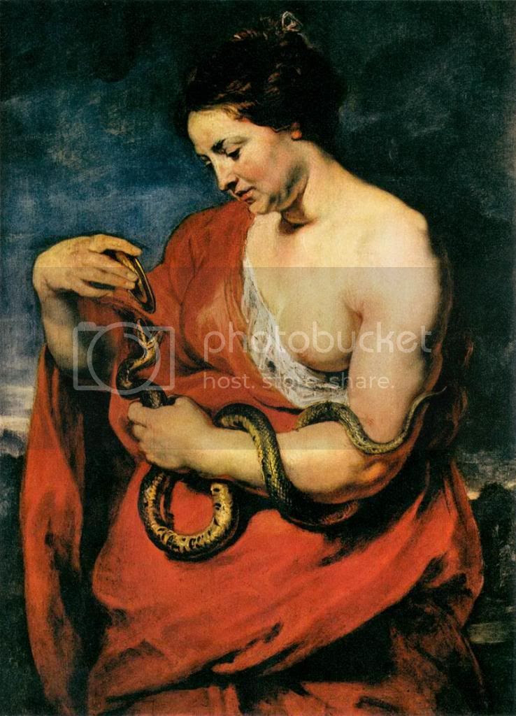 Rubens. Cleopatra... A suicide by Snake