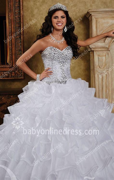 2019 Sequins Wedding Dresses Sweetheart Sleeveless Crystal