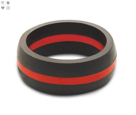 qalo men's thin red line silicone ring, size 14   Walmart.com