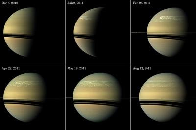 Saturn's visible storm
