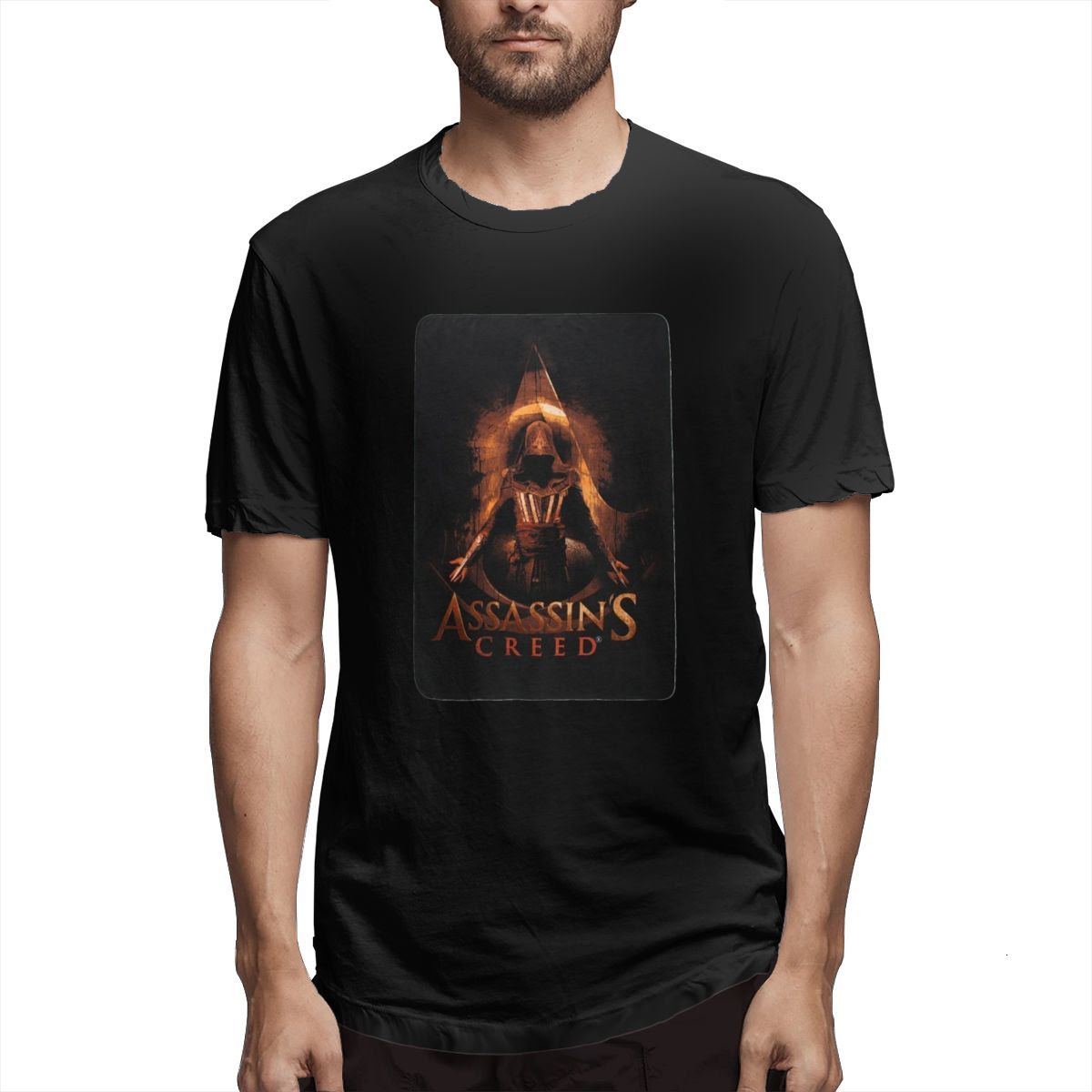 Men T-Shirts Summer Men's Short Sleeve T-shirt Casual Cotton ASSASSIN'S CREED GIFT printing t shirt men tee shirt Fun 5XL