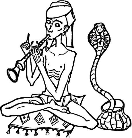 Disegno Di Incantatore Di Serpenti Da Colorare Disegni Da Colorare