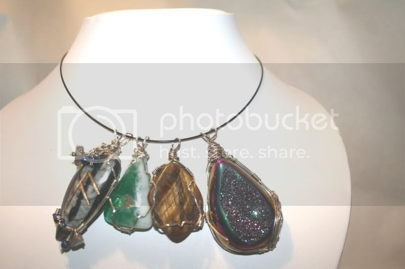 pendants on choker cable