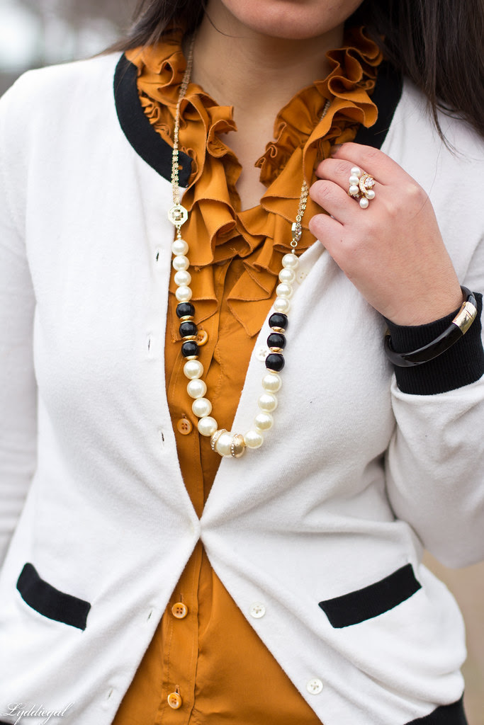 orange ruffled blouse, navy blazer-5.jpg